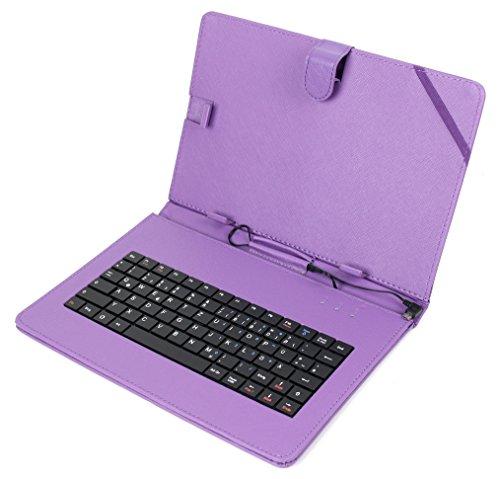 DURAGADGET Lila Deutsche QWERTZ 10 Zoll Tastaturhülle mit Stand für Odys Goal 10 Plus 3G / Falcon 10 Plus 3G / Pace 10 / Pace 10 LTE V2 / Maven 10 Pro/Xelio HD10 / Xelio HD10 LTE Tablet-PCs