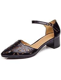 039 femmes Sandales Printemps PU s confort confort décontracté Noir Blanc FlatLight PinkUS8.539 UE UK6.5 CN40  40 EU ePWdy