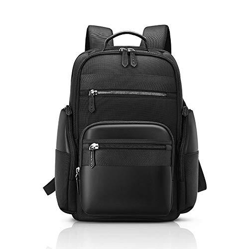 ZNMY Student wasserdichte doppelte Umhängetasche Multifunktionale Outdoor Casual Daypack mit USB-Ladeanschluss Schulbuch Schultaschen-black