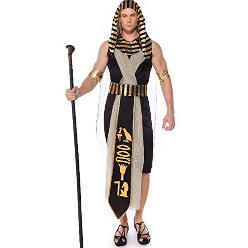 Hexe König Kostüm - GUAN Männer ägyptischen Pharao Kostüme Cosplay König Stage Dress Halloween-Kostüme