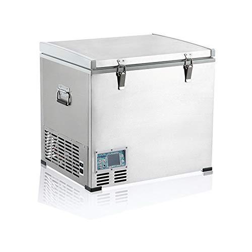 Mobile Kühlbox mit Tragbarer Kühlschrank 60-Liter-Fahrzeug, Auto, LKW, Wohnmobil, Boot, Mini-Kühlschrank mit Gefrierfach Zum Fahren, Reisen, Angeln, für den Außen- und Heimgebrauch - 18 ºC (Reise-kühlschrank Mit Gefrierfach)