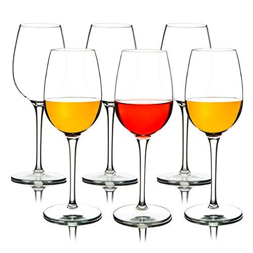 MICHLEY Irrompible Copas de Vino Tinto, 100% Tritan-plástico Copas Vino Cristal, 360 ML BPA y EA Gratis Vaso de Vino