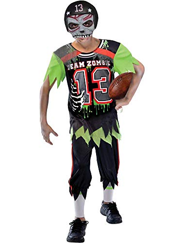 BOYS ZOMBIE AMERICAN FOOTBALLER COSTUME - LARGE (11 - 12 YEARS)
