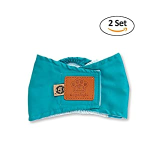 PETCUTE Paquet Premium de 2 Couches Lavables Pour Bébés Mâles Wraps Comfort Pet Belly Band Nappies