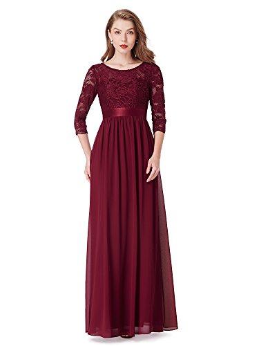 Ever-Pretty Donna Elegante Vestiti da Matrimonio Pizzo Abito Lunghi Vestito Formale...