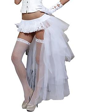 Laisla fashion Faldas Tul Mujer Tutu Años 50 Vintage Clásico Especial Irregular Ballet Enaguas Gothic Steampunk...