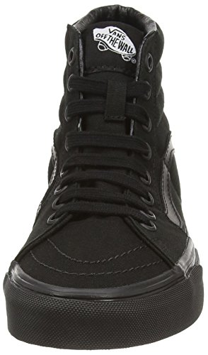 Vans U SK8-HI, Baskets hautes mixte adulte Noir (black/black/black)