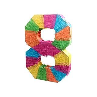 Alsino Pinata Geburtstag Schlagpinata Event Zahlen 0-9 Kindergeburtstag Partydeko Dekoration Geburtstagsdeko, Variante wählen:62/0968 Pinata-Ziffer 8