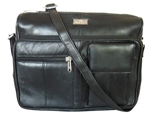 Quenchy London QL189K, Sac pour femme à porter à l'épaule Noir Noir Taille M
