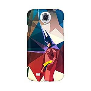 Mobicture Abstract Superhero Premium Printed High Quality Polycarbonate Hard Back Case Cover for Samsung S4 With Edge to Edge Printing
