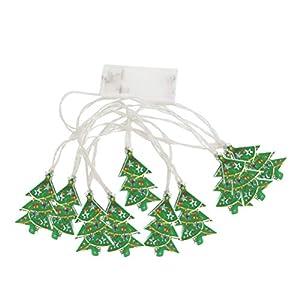BESTOYARD Weihnachtsbaum String Licht LED Lichter Weihnachten Licht Streifen Batteriebetriebene Party Garten Terrasse Seil Weihnachtsbeleuchtung Dekoration 10 stücke