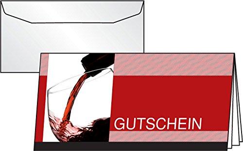 n-Karten Vino Rosso, 10er Set mit Umschlägen, DIN lang - weitere Designs ()