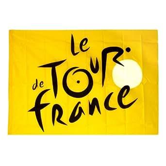 Le Tour de France - Drapeau Tour de France Officiel 140 x 100cm - Couleur : Jaune
