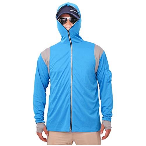 Outdoor Männer, die mit Kapuze Hemden langärmlige Fischen-Hemden schnell trocknende atmungsaktive Fischen-Kleidung des UVschutzes fischen,Softshell Jacke Fieldjacket Freizeitjacke Kapuze Regenjacke