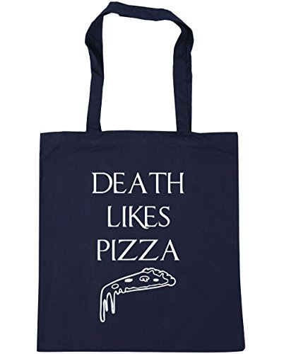 hippowarehouse-death-likes-pizza-tote-shopping-gym-beach-bag-42cm-x38cm-10-litres