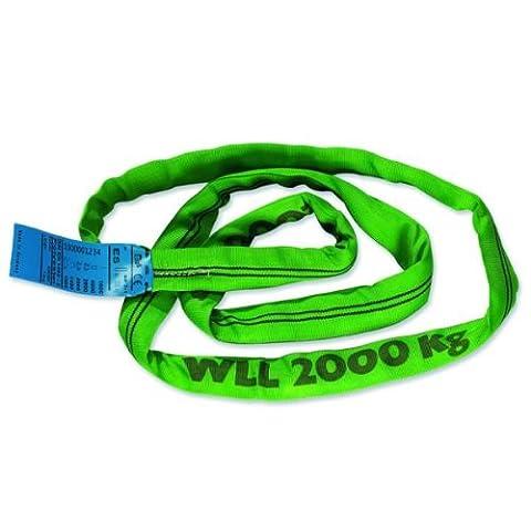 Braun 20021RS Câble de traction Gaine polyester Vert Puissance 2000 kg / 2 m (Import Allemagne)
