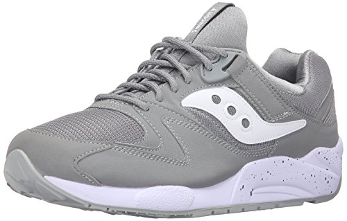 Saucony Grid 9000, Sneaker a Collo Basso Uomo, Grigio (Grey/White), 40 EU