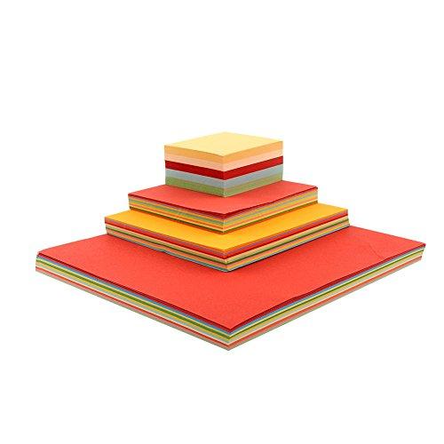 MingXiao 100 Blatt 8X8 Origami Platz Hand Papier Doppelseitige Handwerk DIY Scrapbooking 8 cm