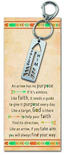 Abbey Gift Follow Him Arrow Key Ring