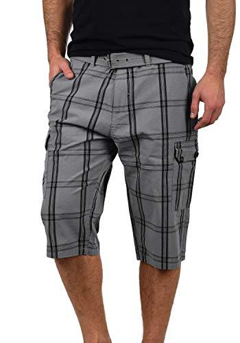 Blend Hannes Herren Cargo Capri Shorts Bermuda Kurze Hose Mit Gürtel Aus 100% Baumwolle Regular Fit, Größe:M, Farbe:Granite (70147) Blend Capri-hosen