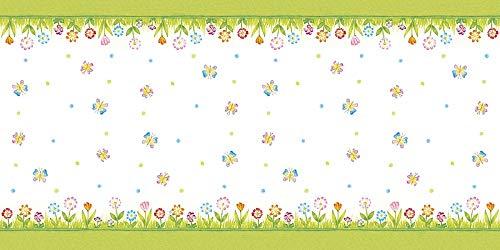 Mank Airlaid Tischläufer 40 cm x 24 m | Tischdecken-Rolle stoffähnlich | praktische Einmal-Tischdecke für Hochzeit oder Partys | Frühling | Sommer | Insa (Frühlings-rollen)