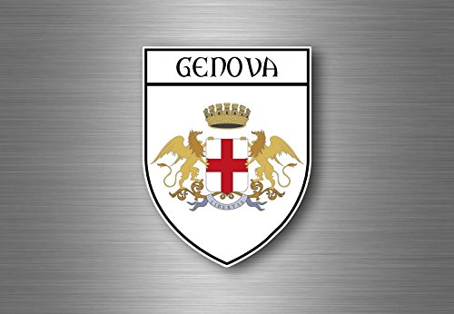 Akacha Aufkleber Sticker autoaufkleber Wappen Schild Flagge Genua Italien -