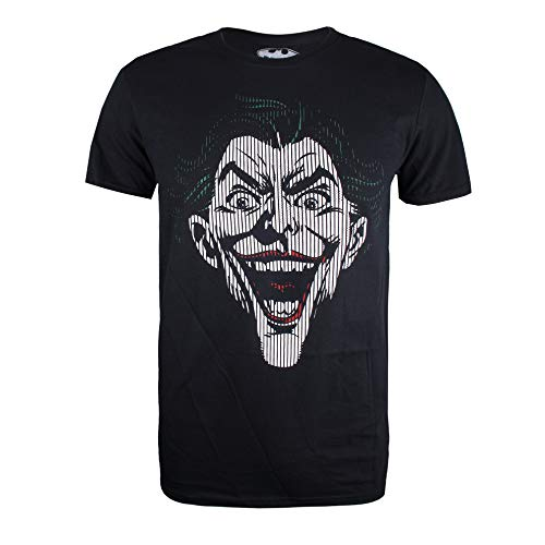 DC Comics Joker Lines, Camiseta para Hombre, Negro (Black Blk), Medium