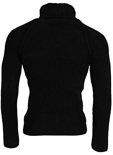 TAZZIO Herren Pullover Strickjacke Jacke Größen S-XXL Schwarz