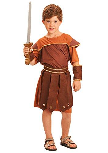 Fiori paolo gladiatore romano costume bambino, marrone, l (7-9 anni), 61210.l