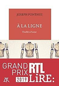 Critique de À la ligne : Feuillets d'usine - Joseph Ponthus par Annette55