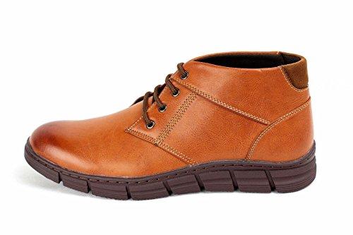 Herren Knöchel Freizeitschuhe Mode Biker Designer Schuhe Smart Kamel