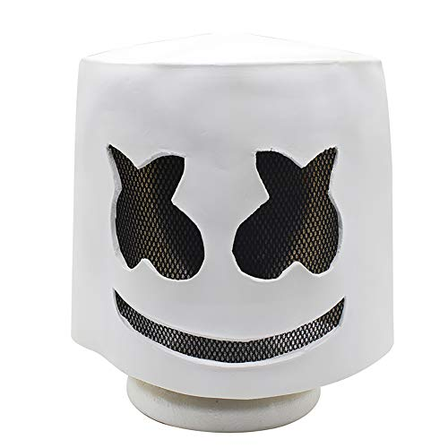 Wan mask Marshmallow DJ Headgear Geeignet für Maskerade-Partys, Kostümpartys, Karneval, Weihnachten, Ostern, Halloween, Bühnenauftritte, Basteldekoration