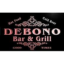 u10491-r DEBONO Family Name Gift Bar & Grill Home Beer Neon Light Sign Enseigne Lumineuse