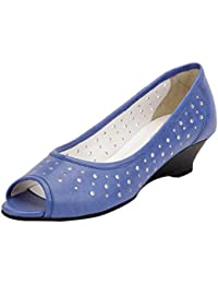 La Briza Women 1312 Blue Synthetic Peep-Toes