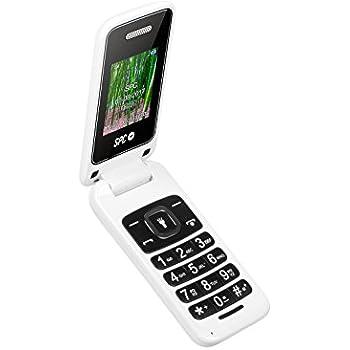 SPC Flip- Teléfono móvil (Dual SIM, Números y Letras Grandes, Agenda hasta 300 contactos, Bluetooth), Blanco