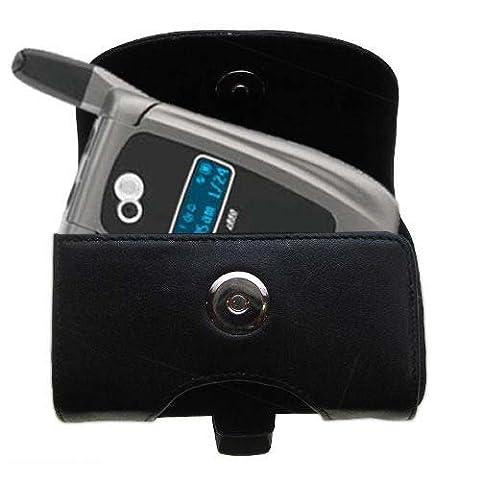 Gürtel Ledertasche Schwarz mit abnehmbaren Clip und Gürtelschlaufe für den