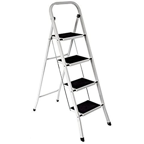 ***FREE DELIVERY*** HIGHLANDS Superior 4 Step Ladder Non Slip Tread Safety Kitchen HEAVY DUTY