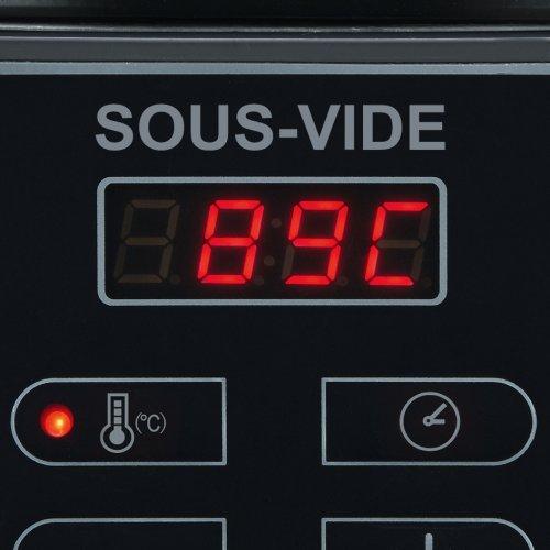 Severin SV 2447 Sous-Vide Garer, 6 L, 550 W, edelstahl gebürstet, schwarz - 5