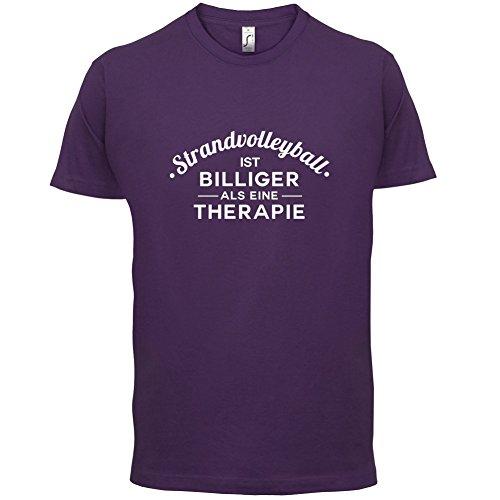Strandvolleyball ist billiger als eine Therapie - Herren T-Shirt - 13 Farben Lila