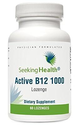 Active B12 1000 - 60 Lozenges - 1000 mcg (as Adenosylcobalamin and Methylcobalamin) - Seeking Health from Seeking Health
