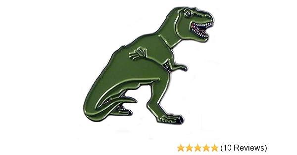 T-Rex Prehistoric Dinosaur Pewter Lapel Pin Badge