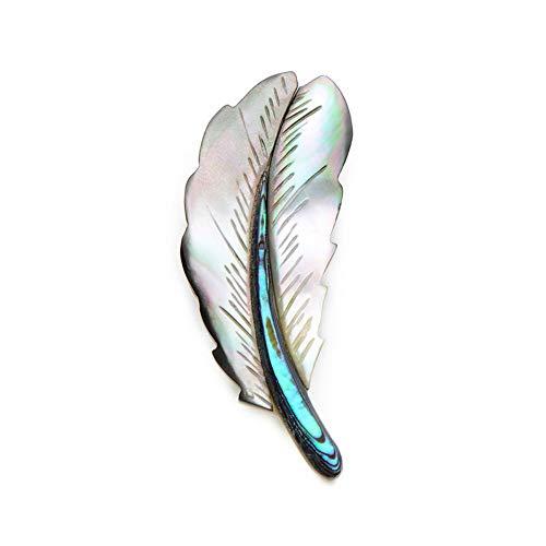 BROCCHASNatural Shell Feather Broschen für Frauen und Männer Classic Feather Banquet Broche Neujahrsgeschenke
