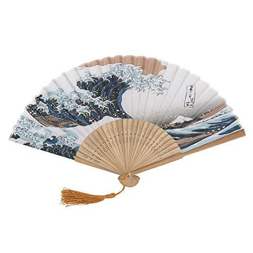 Hilitand Ventiladores Plegables Elegantes Estilo japonés Fans de bambú de Mano con...