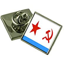 Marina sovietica Ensign Militairy URSS Bandiera Spilla Sacca di badge