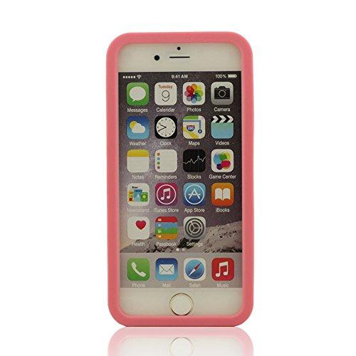 iPhone 6 Coque Case (4.7 Pouce), iPhone 6S étui,Souple Coussin Excellente Protection Anti-Collision, Grenouille Soulagement, iPhone 6 6S Manchon de protection + Silicone Patte de Support (pas inclure  Rose1