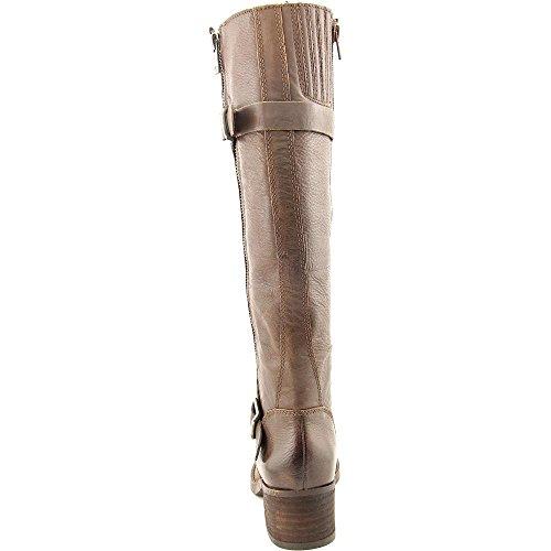 Lucky Brand Hoxy Rund Leder Mode-Knie hoch Stiefel Nutmeg