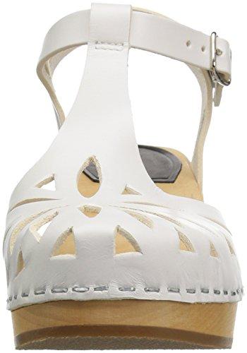 Swedish Hasbeens Lacy Sandal, Salomés Femme Blanc (Blanc)