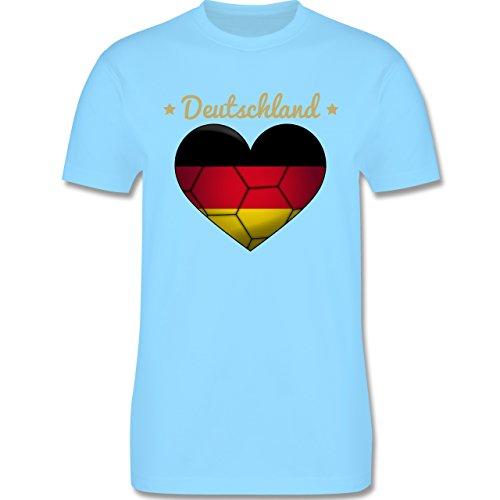 Handball - Handballherz Deutschland - Herren Premium T-Shirt Hellblau