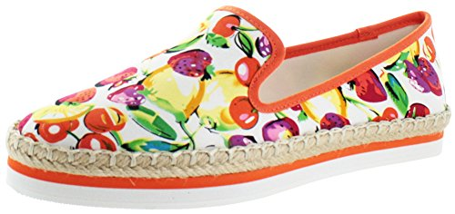 Luichiny En Dearing Femmes Toile Chaussure Plate - Red Fruit