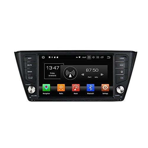 Android 8.0 Octa Core Autoradio Radio DVD GPS Navigation Multimedia-Player Auto Stereo für Skoda Fabia 2015 2016 2017 unterstützt Lenkradsteuerungs mit 3G WiFi Bluetooth frei 8G SD-Karte (Zollfrei) - Tv-speicher-einheit